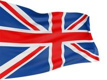 3D Vereinigtes Königreich Markierungsfahne Lizenzfreie Stockfotos