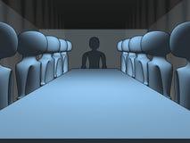 3d vergadering stock illustratie