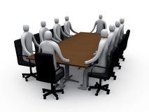 3d vergaderingsruimte #1 Stock Afbeelding
