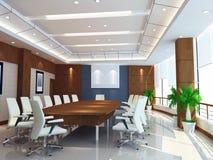 3d vergaderingsruimte stock illustratie