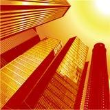 3D vettore City7 Fotografie Stock Libere da Diritti