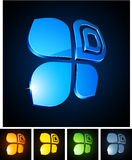 3d vibrant butterfly emblems. Stock Photo