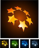 3d vibrant constellation emblems. stock illustration
