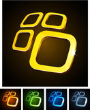 3d vibrant emblems. stock illustration
