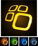 3d vibrant emblems. Stock Image