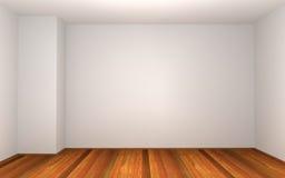 3d vident la pièce avec le mur blanc Photographie stock libre de droits
