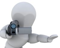3D video camera Royalty Free Stock Photos
