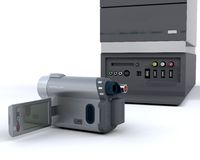 3D video camera equipment Royalty Free Stock Image