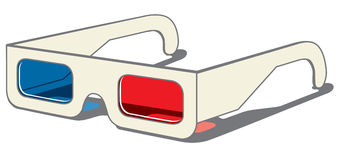 3D vidrios - vista lateral Imagen de archivo libre de regalías