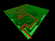 3D view of the maze Royalty Free Stock Photos
