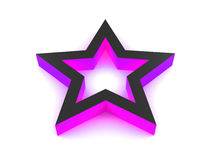 3D Violet Star. 3D rendered violet star isolated on white background Royalty Free Stock Images