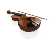 3d Violin Royalty Free Stock Photo