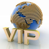 3d VIP globe Royalty Free Stock Photography