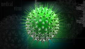 3d virus Stock Photo