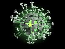 3D Virus. 3D rendering of a virus or microbe Royalty Free Stock Photos