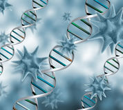 3D virus background Stock Photo