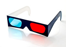 3D vision paper glasses Stock Images