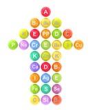3d vitamine minerales Royalty-vrije Stock Afbeeldingen