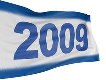 3D vlag van 2009 Stock Foto's
