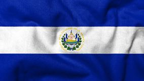 3D Vlag van El Salvador Stock Afbeelding