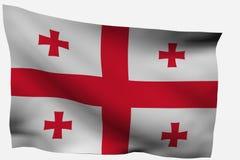 3d Vlag van Georgië Stock Afbeeldingen