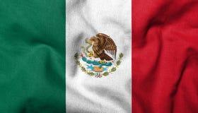 3D Vlag van Mexico Royalty-vrije Stock Afbeelding