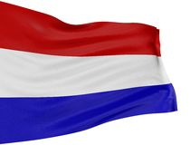 3D vlag van Nederland Royalty-vrije Stock Fotografie