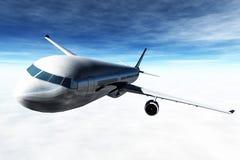3D Vliegen van het vliegtuig geeft terug Royalty-vrije Stock Afbeeldingen
