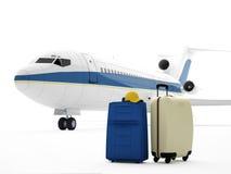 3d vliegtuig Stock Illustratie