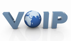 3d voip. 3d render of Voip - Voice Over IP Internet Communication Stock Images