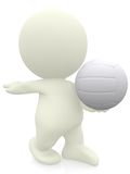 3D Volleyball player Royalty Free Stock Photo