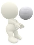 3D Volleyball player Stock Photos