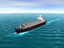3D Vrachtschip Stock Afbeeldingen