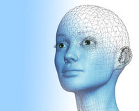 3D vrouw royalty-vrije illustratie