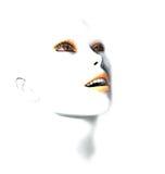 3D vrouwelijk robotgezicht Royalty-vrije Stock Foto's