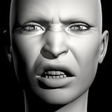 3D vrouwenportret Royalty-vrije Stock Foto