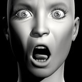 3D vrouwenportret Stock Afbeelding