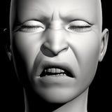 3D vrouwenportret Royalty-vrije Stock Afbeelding