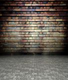 3d wall with brick texture, empty interior Stock Photography