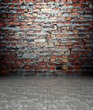 3d wall with brick texture, empty interior Royalty Free Stock Photos