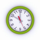 3D Wall Clock. Green 3D Wall Clock Royalty Free Stock Photography