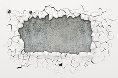 3d wall destruction Royalty Free Stock Photo