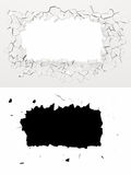 3d wall destruction Royalty Free Stock Images