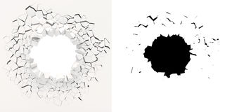 3d wall destruction Royalty Free Stock Image