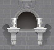 3D wall niche shrine in vector stock photos