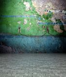 3d wall with peeling paint texture, empty interior Royalty Free Stock Images