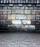 3d wall with stone and brick texture Stock Photography