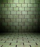 3d wall with tiles texture, empty interior. 3d wall with tiles texture in empty interior Stock Image