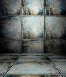 3d wall with tiles texture, empty interior Stock Photo