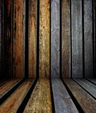 3d wall with wood texture, empty interior Stock Images